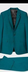 Paul Smith Kensington -teal green Wool-Mohair 42r